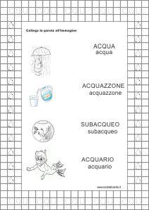 scheda didattica acqua 2