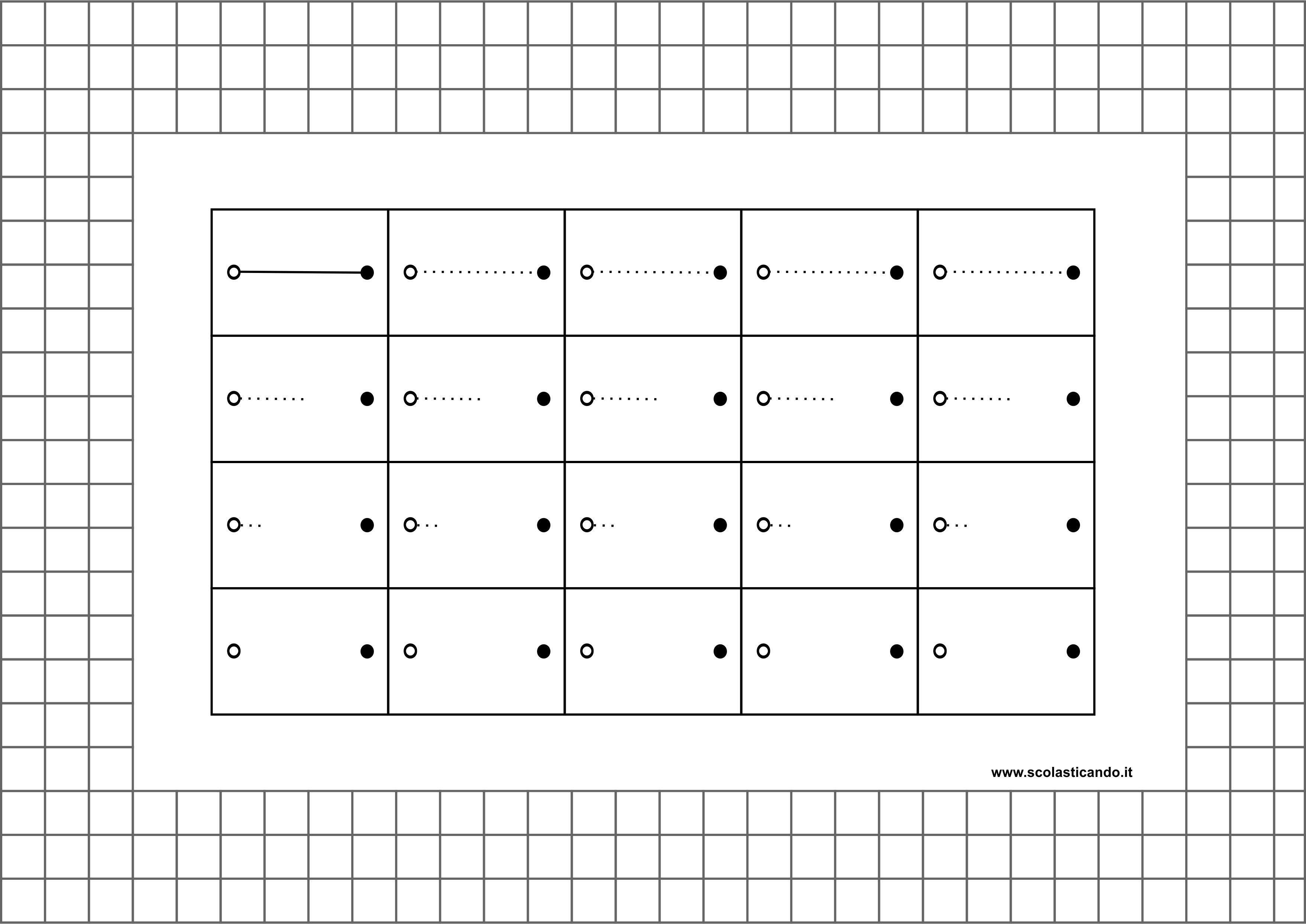 Preferenza Frostig: esercizi di coordinazione visuomotoria, schede 24 - 27 EN03