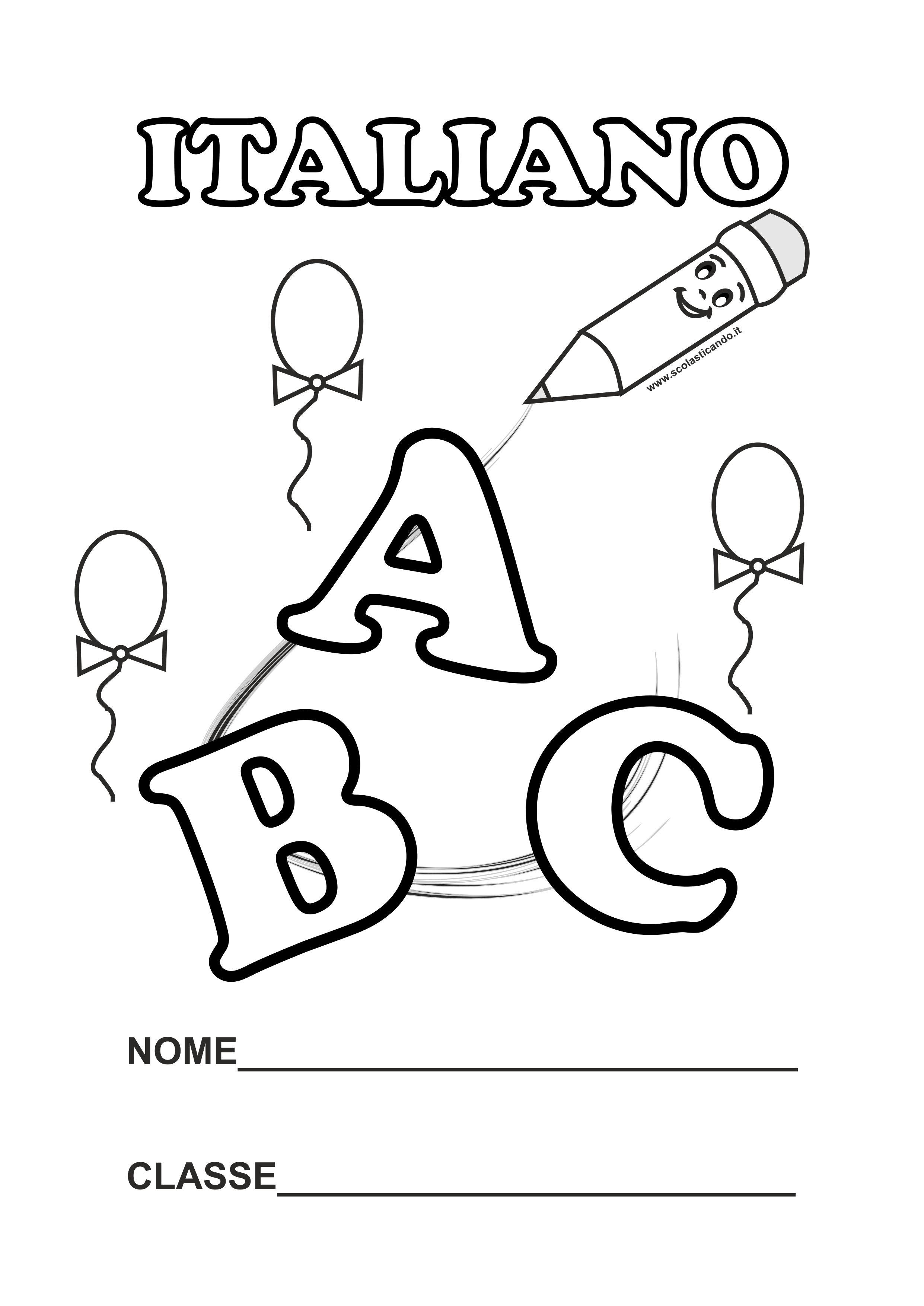 spesso Copertine per quaderni scuola primaria LI46