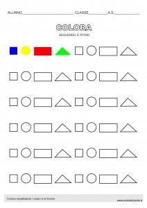 Colora rispettando i colori e le forme