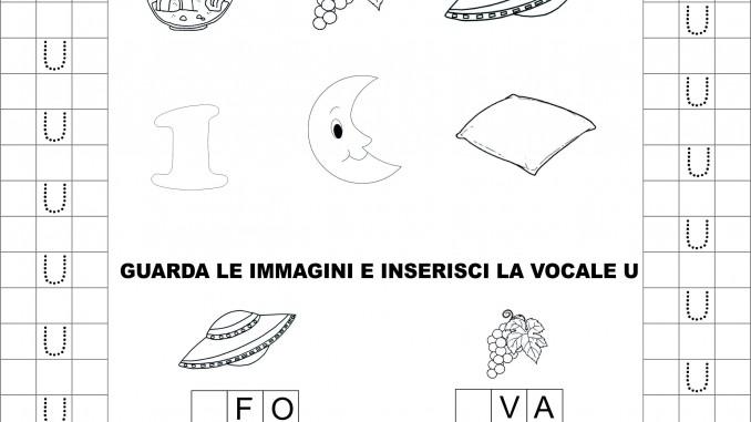Classe Prima Italiano La Vocale U Schede Didattiche Da Scaricare