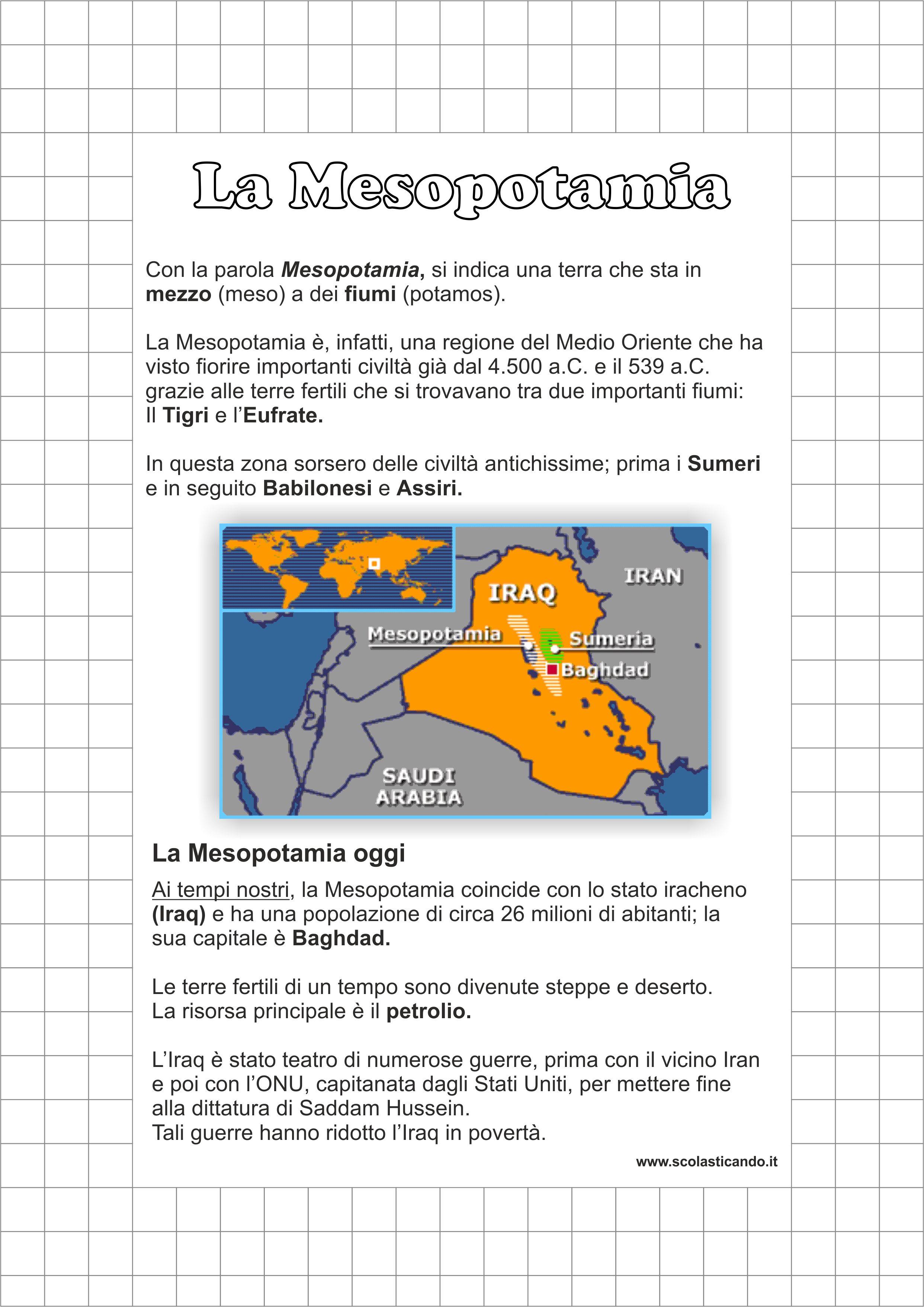 spesso Classe quarta, storia: le civiltà agricole - la Mesopotamia  XQ05