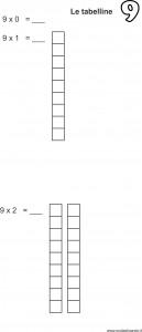 tabellina 9