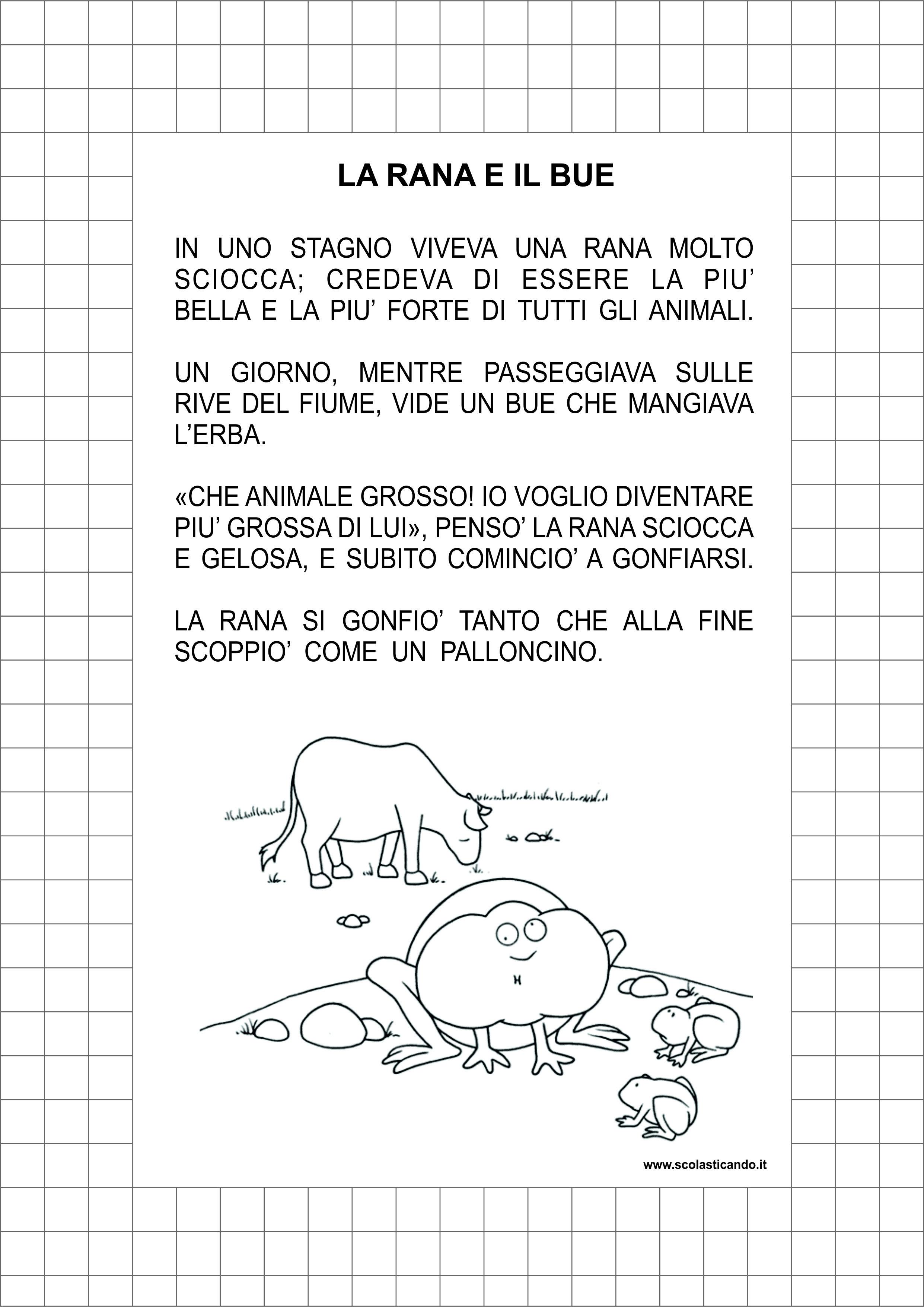 Super Classe seconda, italiano: la rana e il bue, lettura e comprensione TF94