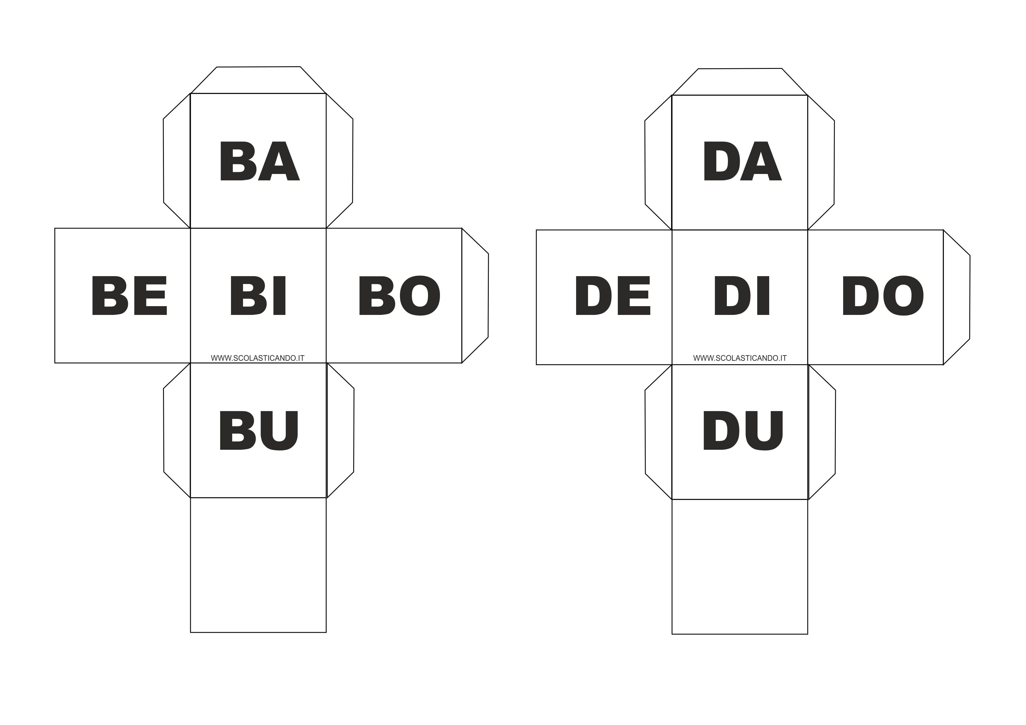 Classe prima italiano gioco con sillabe prima parte for Sillabe da stampare e ritagliare