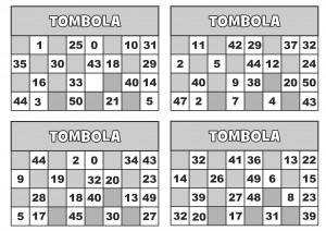 TOMBOLA CARTELLE 1