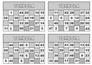 TOMBOLA CARTELLE 2