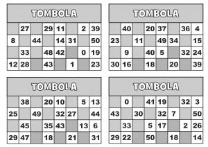 TOMBOLA CARTELLE 3