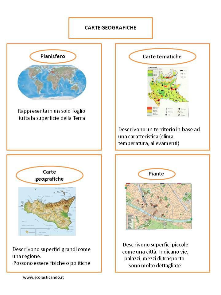 Classe Terza Geografia Le Carte Geografiche Mappe Concettuali