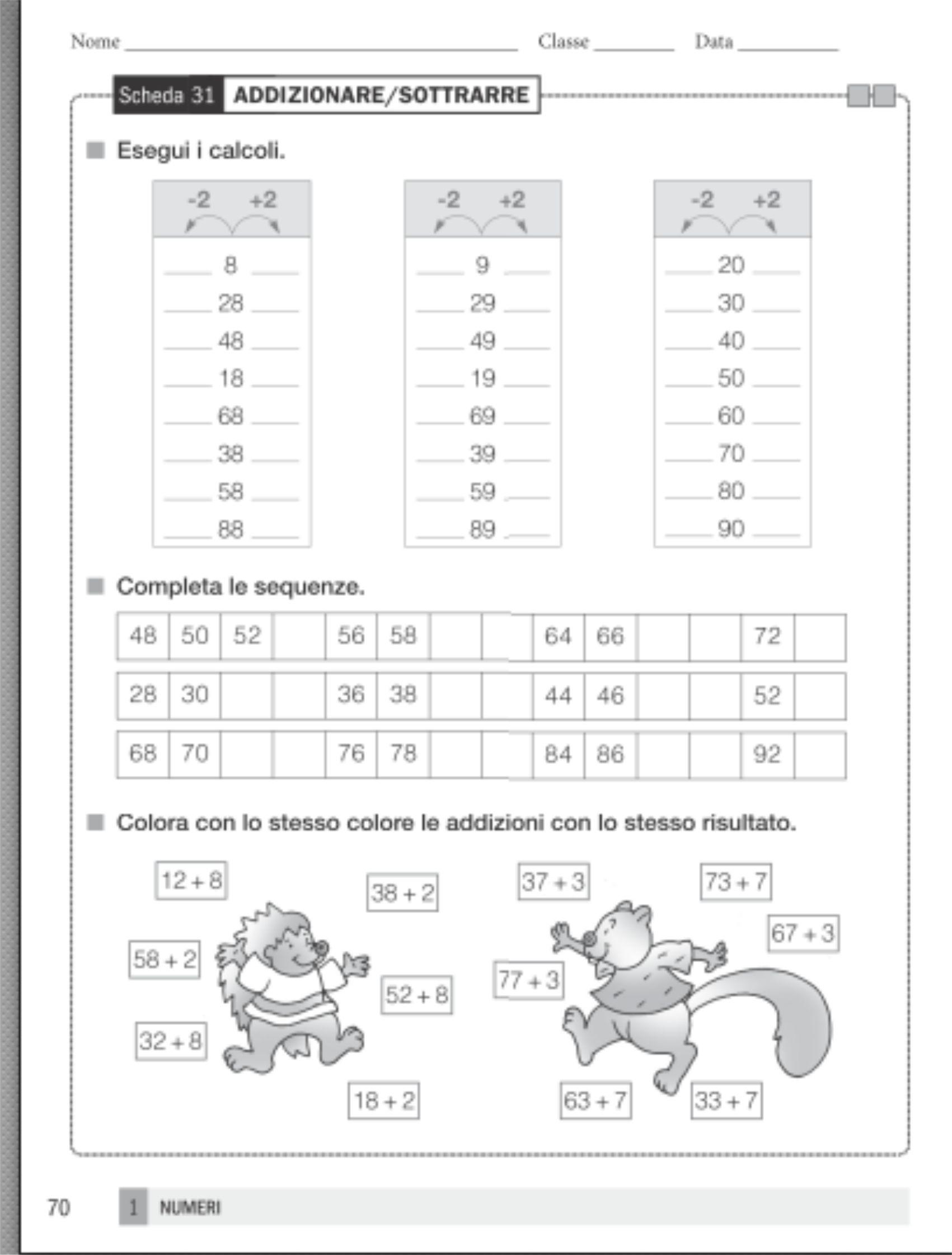 La Scuola: Classe seconda, matematica - schedari operativi